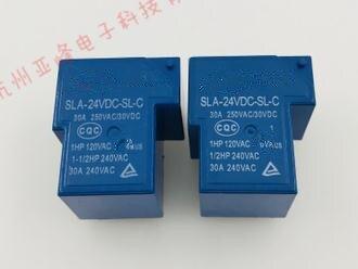 (10pcs) Original Sla-24vdc-sl-c 6 Feet A Group Conversion 30a 250vac T90 2150 Relay To Ensure Smooth Transmission