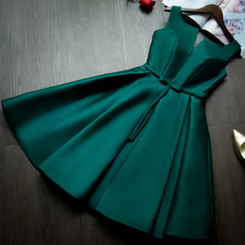 2015-new-design-A-line-short-dresses-V-opening-back-3cocktail-party-lace-up-dress-veatidos