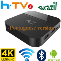 Newest A2 HTV5 H TV5 Brazilian Portuguese TV Internet Streaming Box Live IPTV Movies Brazil 4K