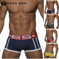 2017 4pcs/lot Cotton Sexy Men Underwear Popular Brand BS Mens Boxers Underpants Male Panties Shorts U Convex Pouch For Gay M-XXL