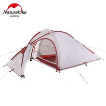 Палатка naturehike сверхлегкий 3 человек 210t и одна спальня одна гостиная двойные слои Водонепроницаемый лагерь NH Открытый Семейный палатка 4 сезон