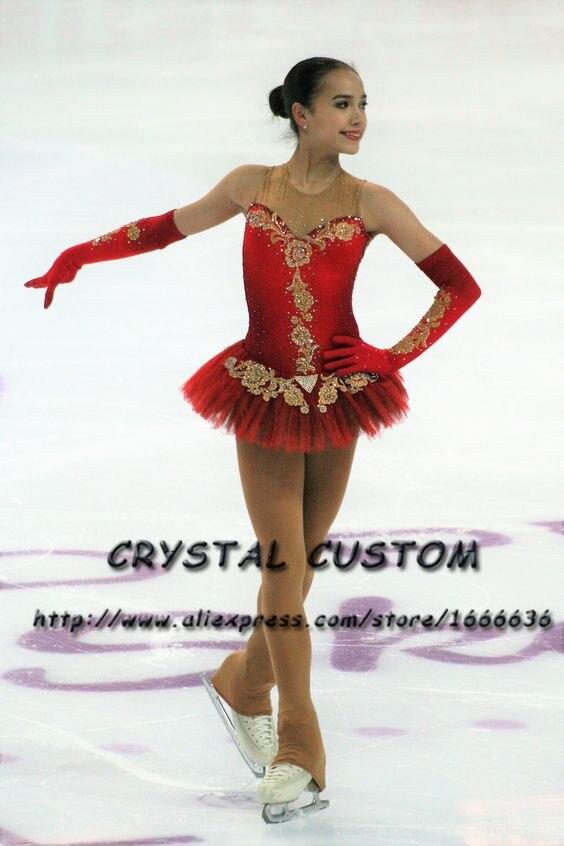 Crystal Custom Figure Skating Dresses Girls New Brand Ice Skating Dresses For Competition DR4597