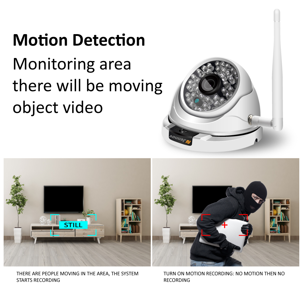 Jennov Wifi Outdoor IP Camera 1080P 720P ONVIF Home Security Wireless Video Surveillance Dome Camera CCTV Ceiling Weatherproof