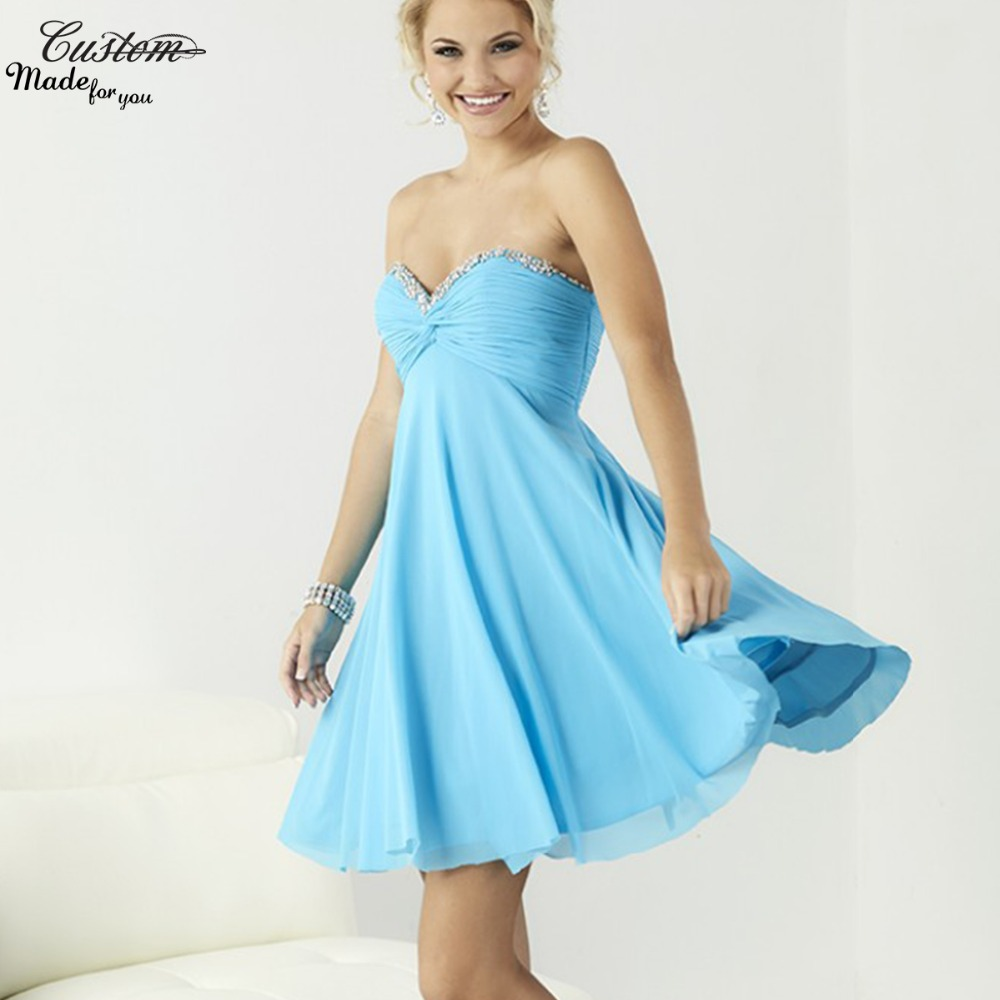 Blue and Gold Short Prom Dresses – fashion dresses