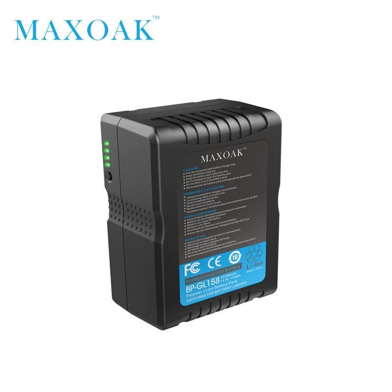 MAXOAK V158 10700 mAh 14.8 V V Mount Batteria con Adattatore del Caricatore V Blocco Batteria per Sony Camcorder/Video camera/BMCC