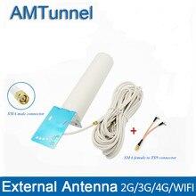 4G אנטנת 4G LTE antennna 3G אנטנת 10m TS9/CRC9/SMA זכר אנטנת עבור huawei 3G 4G נתב מודם