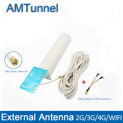 4G antenna 4G LTE external antennna 3G antenna SMA male with 10m and SMA-F to TS9/CRC9/SMA male connector for 3G 4G router modem
