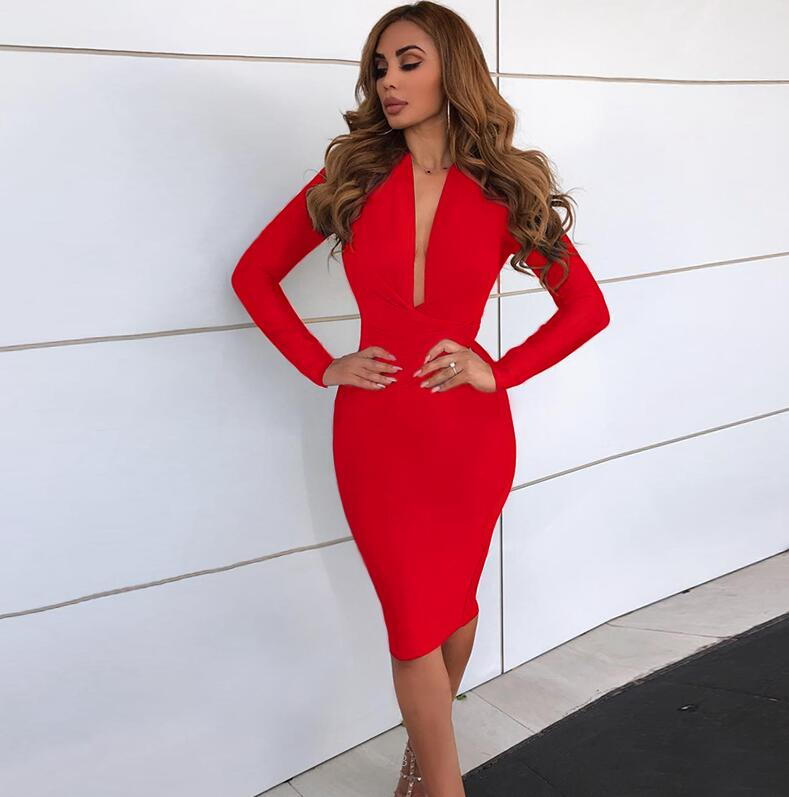 Buy Cheap Deer Lady Party Dress Bandage 2019 New Arrivals Runway Bandage Bodycon Dress Red Vintage Bandage Tassel Dress Club Women's Clothing