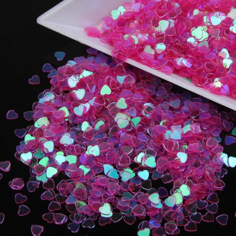 Элегантный Фиолетовый Цвет Блеск Ногтей 3D Блеск Персик Сердца Nail Art Дизайн Украшения DIY Инструменты Для Ногтей Наклейки WY16