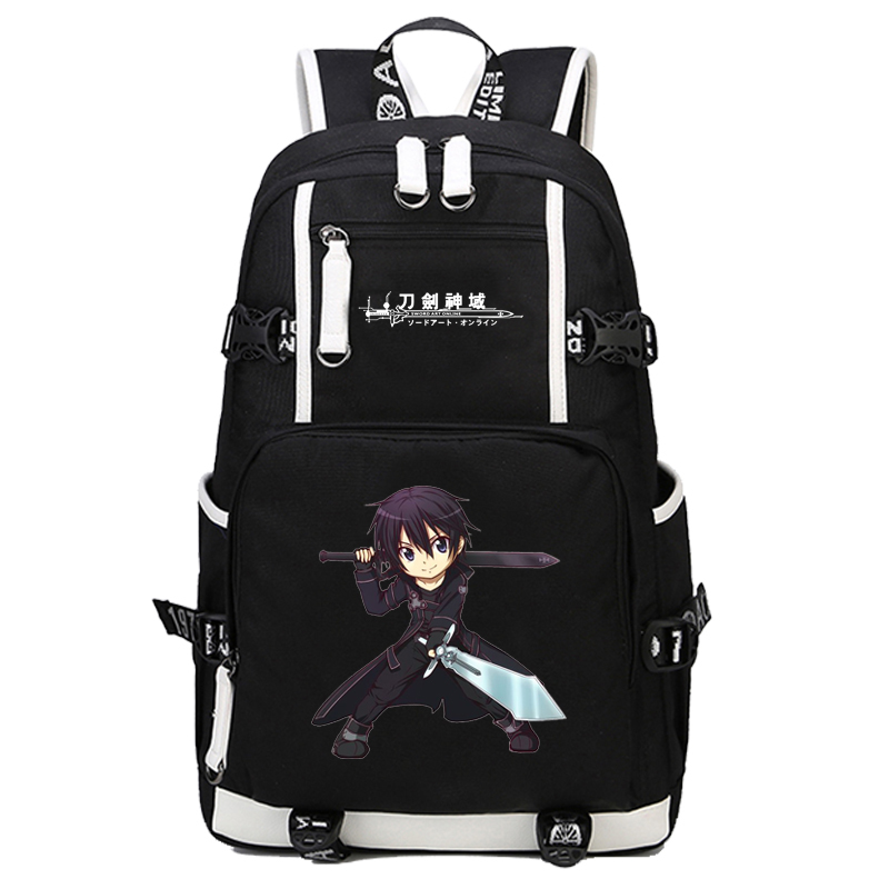 2017 New Sword Art Online Backpack Cosplay SAO Asuna Anime School bag Bookbag Satchel Rucksack Work Leisure Laptop Travel Bags new fashion sword art online cosplay bag sao kirigaya kazuto anime shoulder bag pu waterproof travel messenger bags