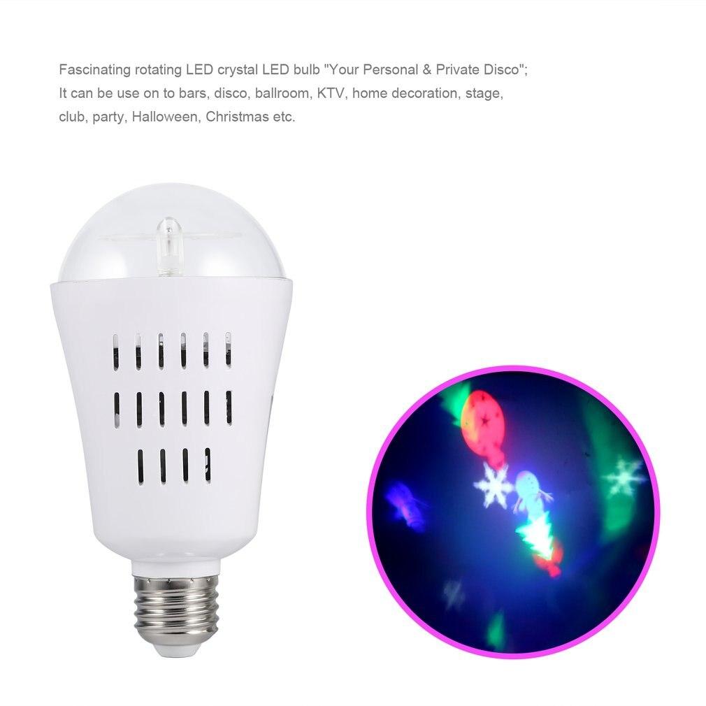 ICOCO E26 4W LED Projector Bulb Light Auto Rotating Stage Effect Lamp for Party Christmas Christmas Festival Bar KTV Decor New