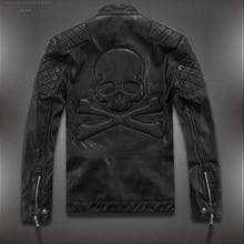 Горячее предложение! Распродажа! Высокое качество, новые весенние модные кожаные куртки для мужчин, мужская кожаная куртка, брендовые мотоциклетные кожаные куртки с черепом M-5XL