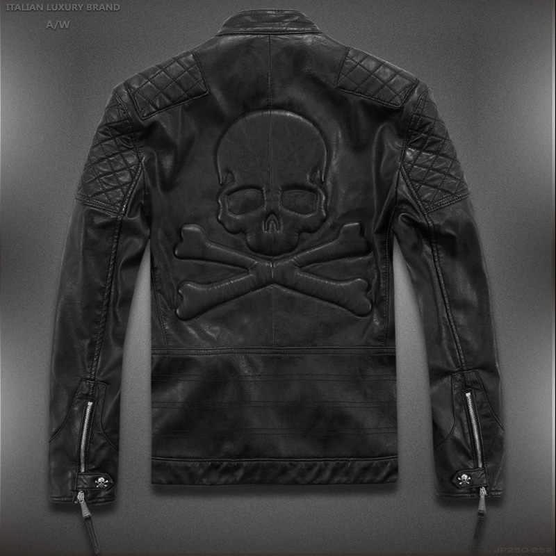 4fa861d8f9f Распродажа! Высококачественные Новые весенние модные кожаные куртки мужские
