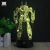 Transformers Decoration 3D Night Light Optimus Prime Avatar Table Lamp LED Novelty Creative Cool Children Gifts