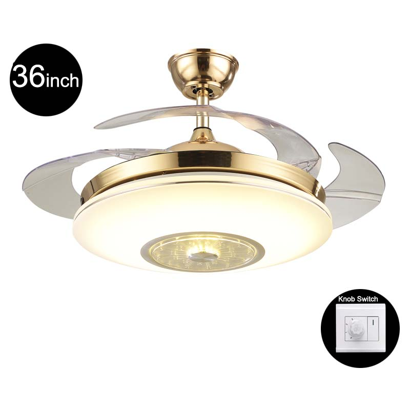 Creative 42inch Living Room Modern Gold Fan Ceiling Lights