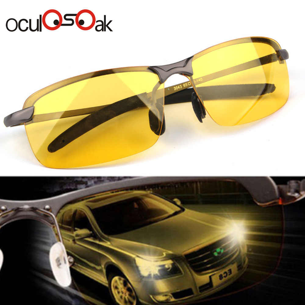 2019 Hot Men's Aluminum-Magnesium Car Drivers Night Vision Goggles Anti-Glare Polarizer Sunglasses Polarized Driving Glasses