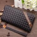 2016 dos homens Novos da marca zipper carteira longa saco do telefone da moda alta garantia de qualidade top bolsa saco de moeda embreagem carteira livre grátis