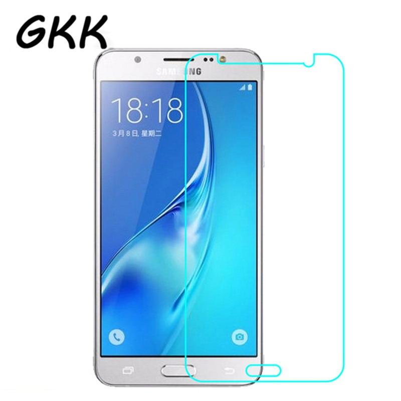 Galleria fotografica GKK 9H Tempered Glass For Samsung Galaxy J7 J5 J3 2016 2015 Screen Protector Film For Galaxy J7 J5 J3 J1 Protective Film Case