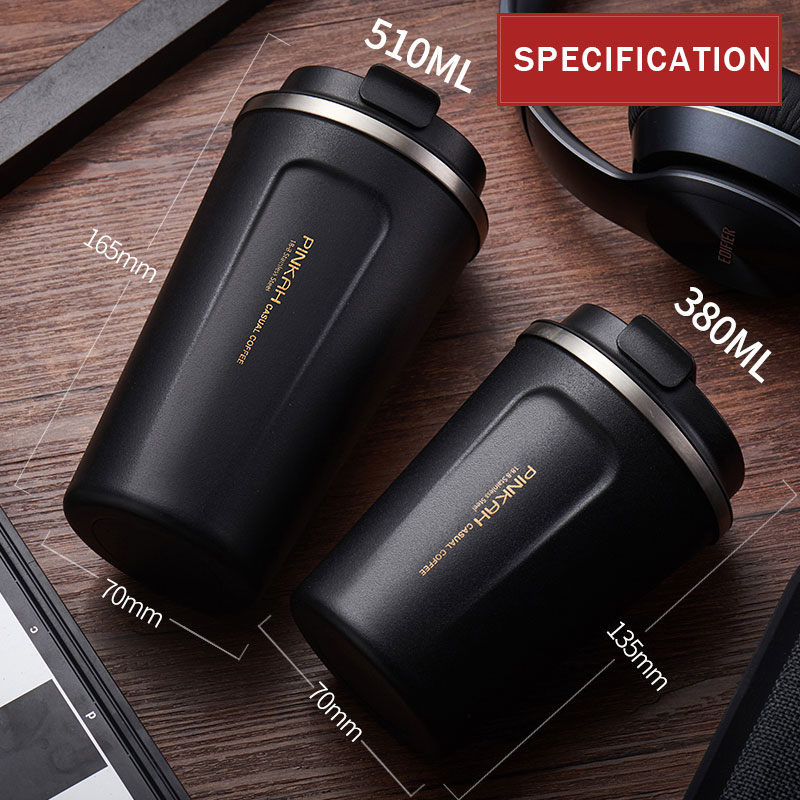 Image 4 - Hot Sale 380 & 510ml 304 Stainless Steel Thermo Cup Travel Coffee Mug with Lid Car Water Bottle Vacuum Flasks Thermocup for Gift-in Vacuum Flasks & Thermoses from Home & Garden