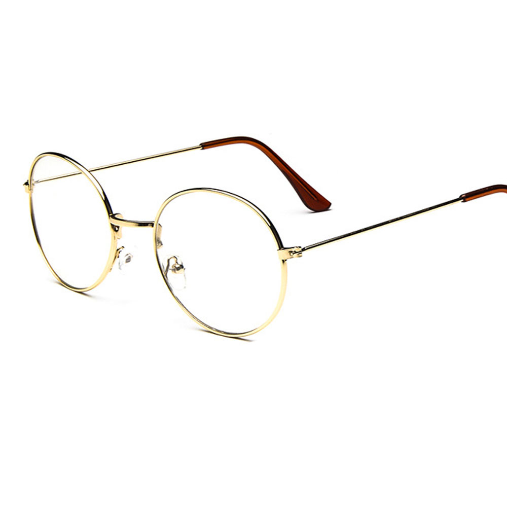 48971093e769 Vintage Unisex Retro Star Round Metal Frame Clear Lens glasses Optical  spectacles Designer Nerd Geek Eyeglasses Eyewear-in Eyewear Frames from  Apparel ...