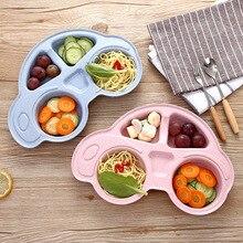 Детские чаши тарелка посуда детский пищевой контейнер столовые приборы Младенческая еда чаша для кормления детей кормов тарелка