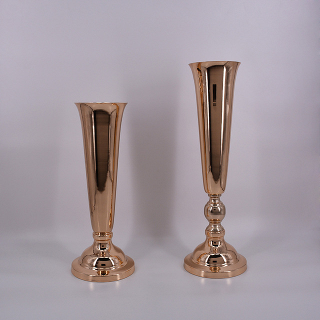 Wholesale 10 Pieces Gold Trumpet Vase With Glass Crystal Ball For