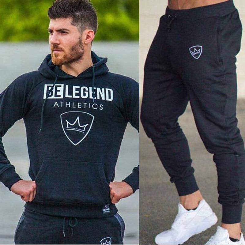 Men Tops And Pants Sets Casual Fashion Sportswear Hoodies Sweatshirt+Sweatpants 2pcs/Set Male Fitness Joggers Tracksuit Clothing
