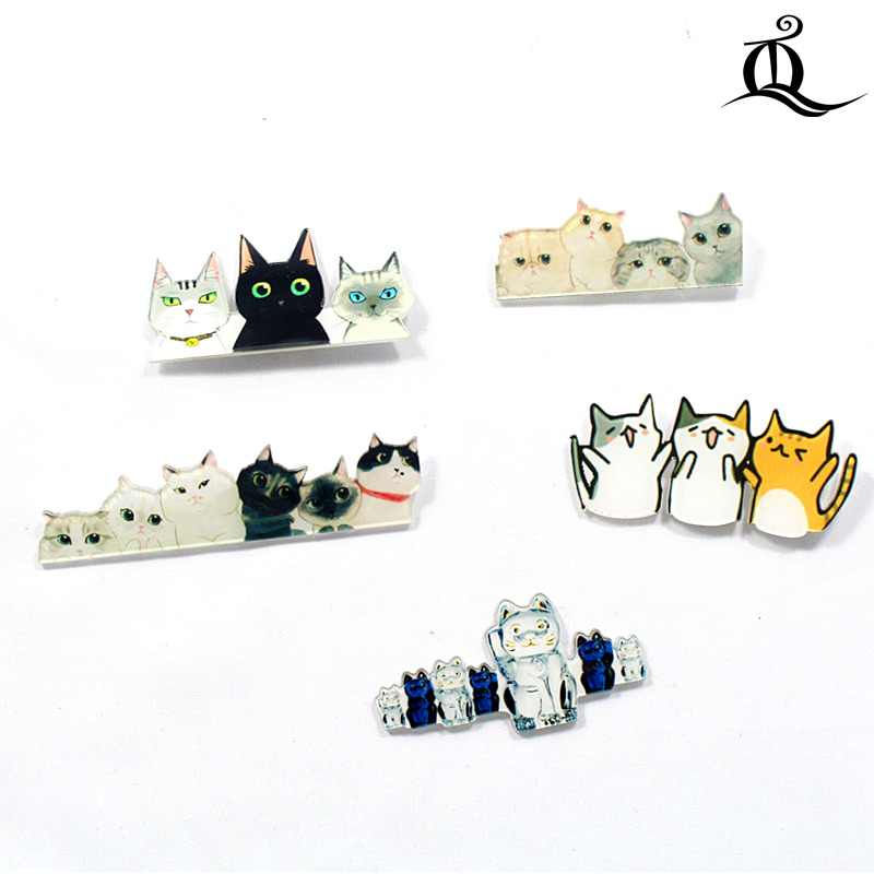 Badges Professional Sale Hot Mix 1pc Hot Shirt Cute Cartoon Harajuku Acrylic Badge Pins Bag Packbag Decoration Fruit Animal Cat Rainbow Brooch Broch,n7 Delicacies Loved By All Apparel Sewing & Fabric