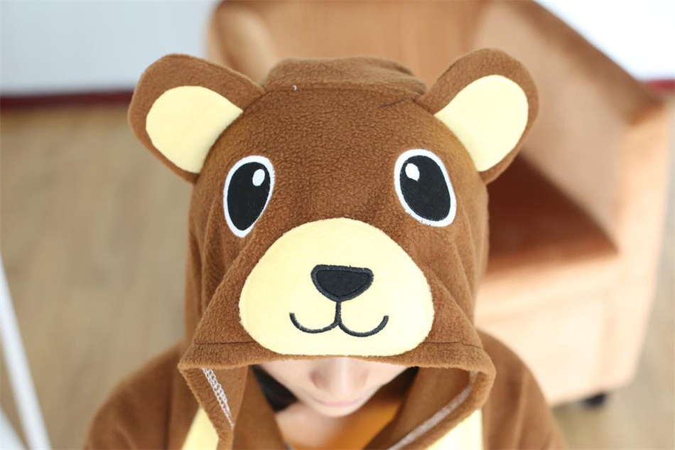Adult Onesie Brown Bear Pajamas Sleepsuit Sleepwear Anime Cosplay Costume Unisex Cartoon Pyjamasl Onesie Cosplay