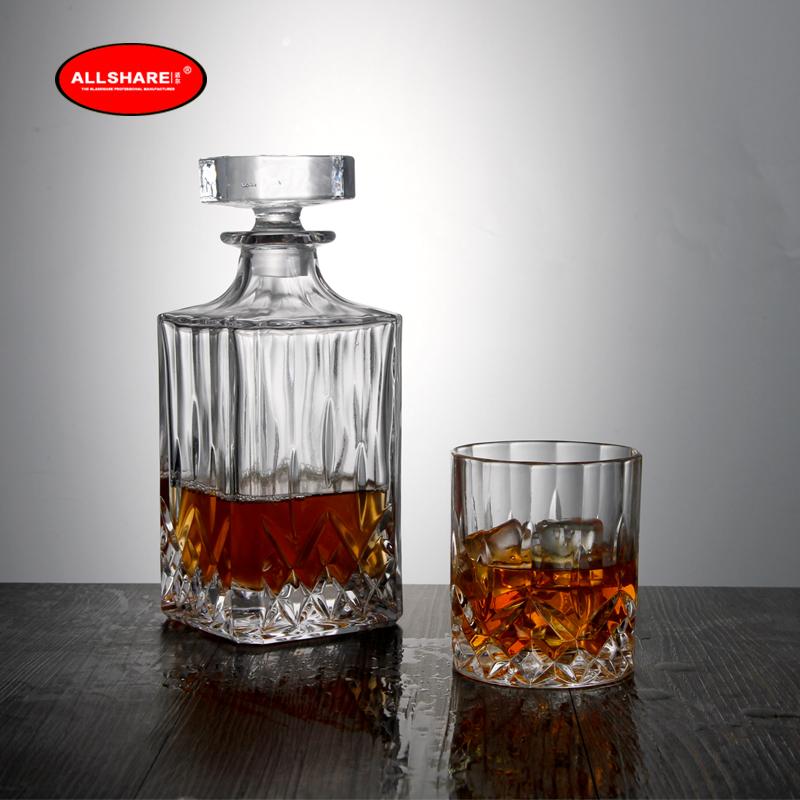 whiskey glass bottle set 04
