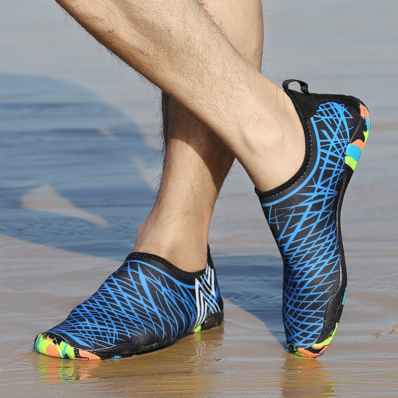 Летние дышащие спортивные Обувь пара, бегом Обувь пляжные шлепанцы для Плавания Sapato Mujer быстросохнущая легкие пляжные Обувь для прогулок ...