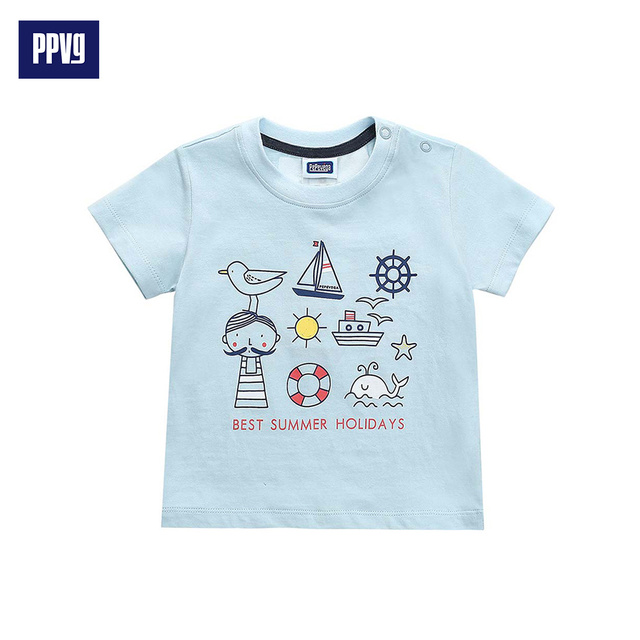 PPVG Boy T Shirt Short Sleeves For Children's O-Neck T-shirts baby Clothes 2017 Summer New Style Hot Sale Free Shipping