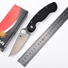 Free delivery C36 Folding Blade Knife 5Cr13Mov Blade G10 Handle Camping Knives Tactical Hunting Outdoor Survival  Utility knife