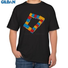 618f301bffce Customize Best Tee Shirt Euro Size Optical Illusion Endless Steps T Shirt  For Men Solid Color