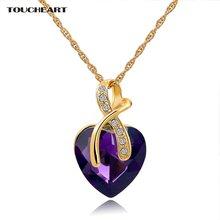 Toucheart Австрийское хрустальное сердце nenecklaces & Подвески