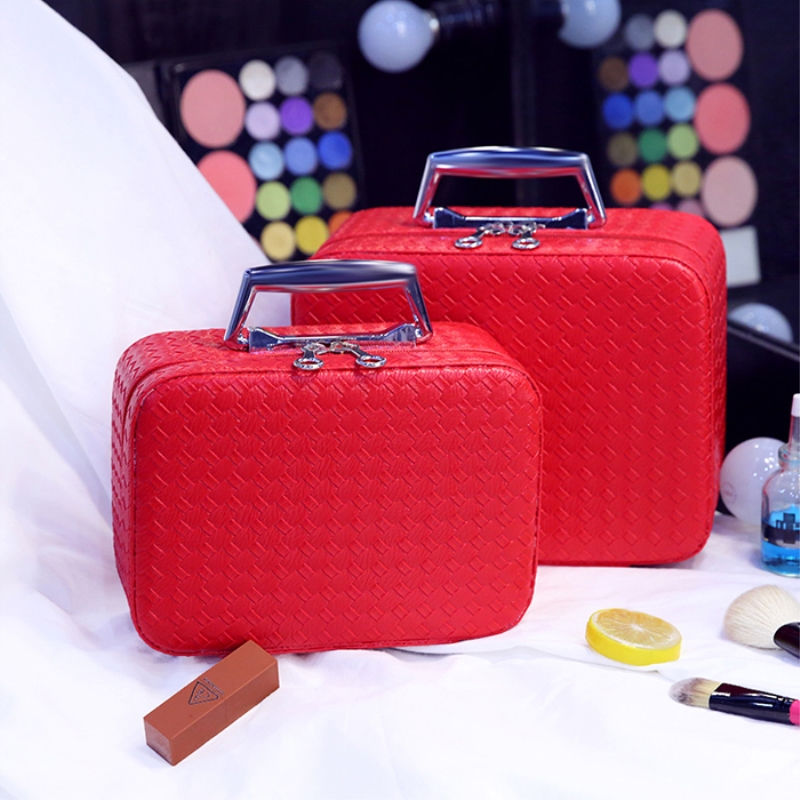 цены  Women Portable Multifunction Zipper Travel Beauty Cosmetic Bag Plaid Makeup Bags Big Pouch Toiletry Organizer Beautician Holder