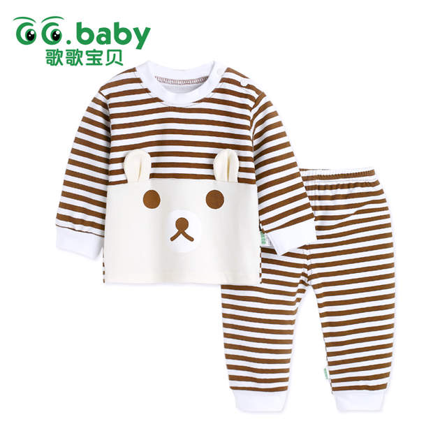 36b5efb89 Online Shop Newborn Baby Boy Clothes 2pcs Set Striped Cartoon Bear ...