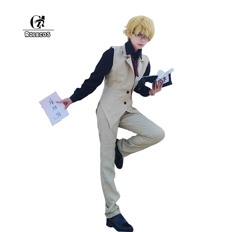 ROLECOS 2017 New Arrival Bungou Stray Dogs Cosplay Kunikida Doppo Anime Cosplay Clothing Bungo Stray Dogs Cosplay Costumes