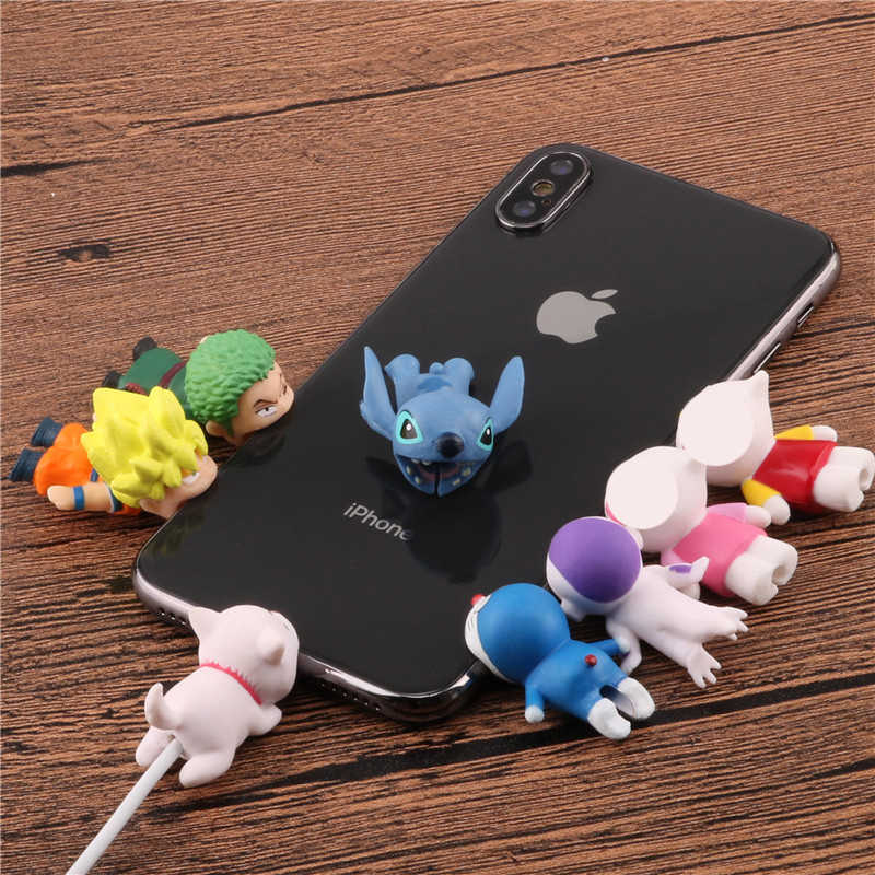 Cartoon Kabel beißen protector Tier puppe kabel veranstalter wickler Nette chompers draht halter für iPhone 5 6s 7 8 plus x kabel