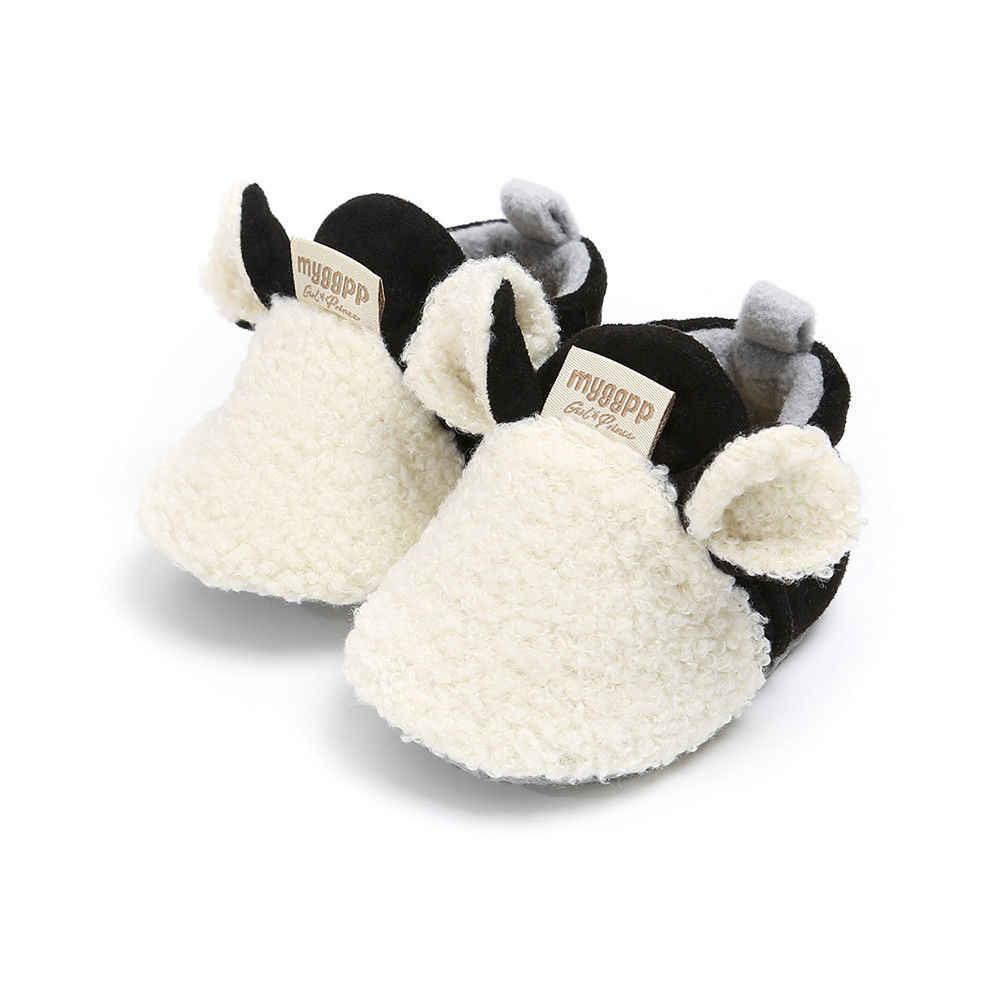 Chaussures d'hiver pour nourrissons | Flambant neuf de 2018, pantoufles d'agneau pour bébés et garçons et filles, baskets pour marcheurs, fourrure et oreilles d'animaux pour premiers marcheurs