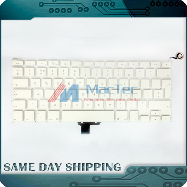 NEW A1342 UK layout keyboard for Macbook Pro 13'' Unibody MC207 MC516 A1342 Keyboard UK with Power Button No Topcase