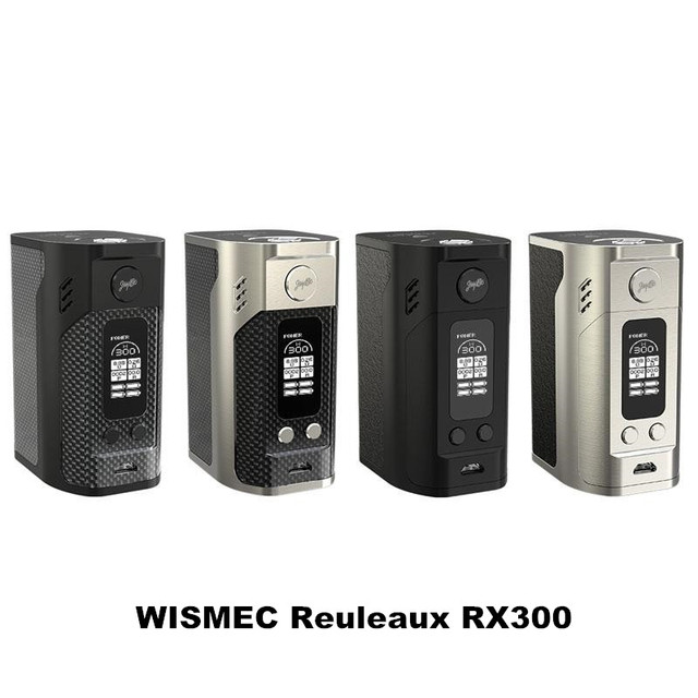 Оригинал WISMEC Reuleaux RX300 ТС Мод 300 Вт rx300 Окно Мод powered by 4 18650 батареи Электронной Сигареты Жидкостью Vape Mod VS RX200/RX200S RX2/3