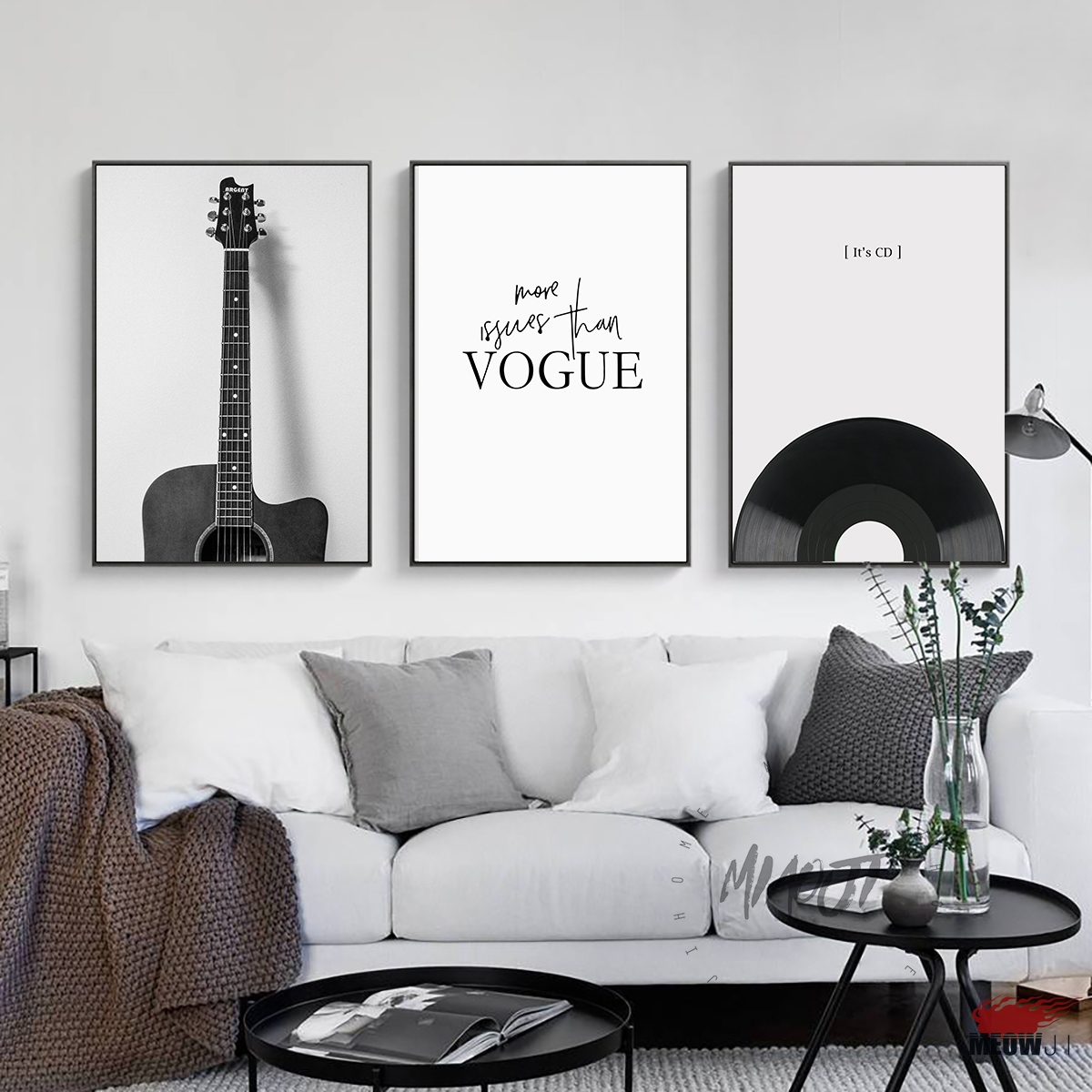 Fashion Music Guitar Poster Living Room Printed Canvas Painting ...