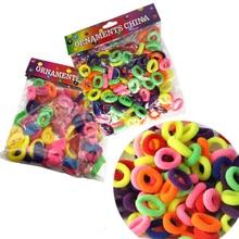 Mix Color 3 Size(100/200/400Pcs) Hair Accessories Elastic Rubber Band Holders Headdress Tie Gum MakerHeadwear