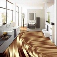 Envío Libre estéreo 3D hermosa oro tierra metálico pintura de Piso pared de fondo pegatinas wallpaper mural