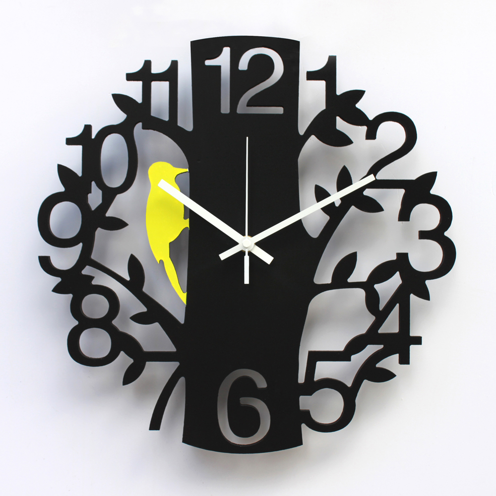 Art wall clock quieten fashion font b watches b font and clocks 14 digital pocket font
