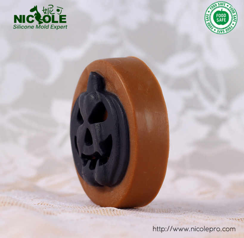 Abóbora de Halloween Molde Do Bolinho de Chocolate Molde Sabão Moldes de Silicone Flexível Frete Grátis