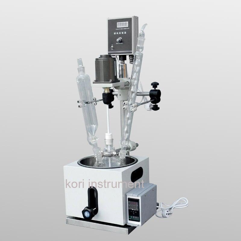 CE Approuvé 5L Laboratoire appareils à Réaction/Chemisé de verre réacteur/Bioréacteur