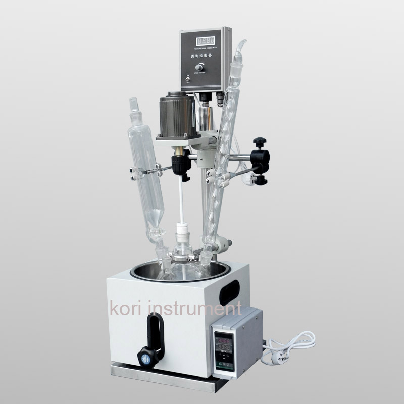 CE Approved 5L Laboratory Reaction apparatus /Jacketed glass reactor/Bioreactor ce approved double layer jacketed reactor 1l 2l 3l 5l 10l 20l 30l 50l 100l 150l 200l