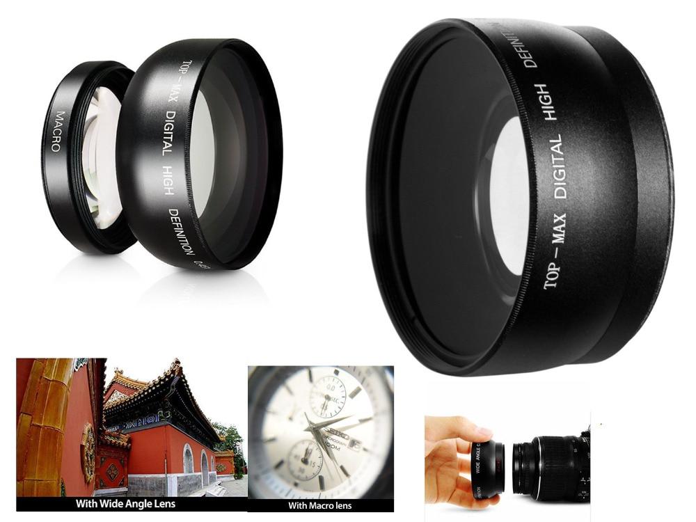 0.45x Super Wide Angle Lens W/ Macro For Canon Eos 60d 77d 80d 100d 200d 760d 800d 1000d 1100d 1200d 1300d 18-55mm Lens Harmonious Colors